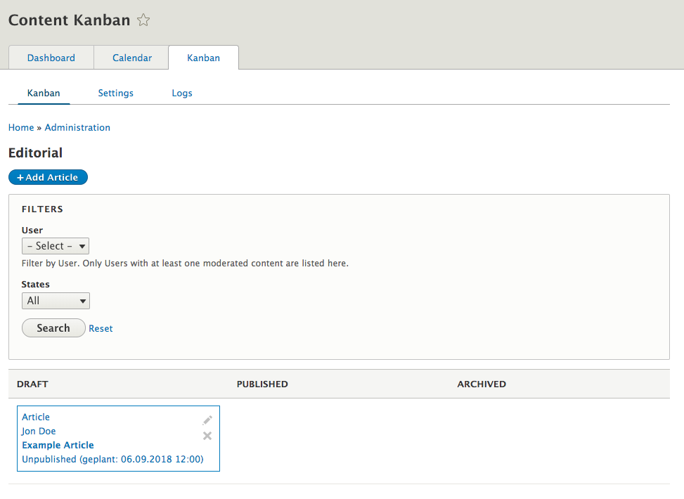 Content Type being displayed in Content Kanban